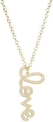 Sydney Evan XL Vertical LOVE Script Necklace