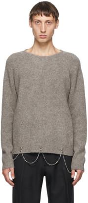 Random Identities Grey Wool Chain Crewneck