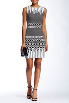 Julia Jordan Sleeveless Jacquard Dress