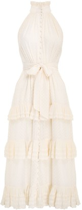 Zimmermann Pleated Lace Picnic Midi