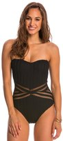 Kenneth Cole Swimwear Tough Luxe Bandeau One Piece Swimsuit 8145460