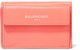 Balenciaga Textured-leather Wallet - Pink