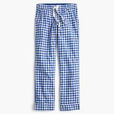 J.Crew Gingham flannel pajama pant