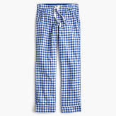 J.Crew Tall gingham flannel pajama pant