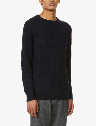 Reiss Ripper cable-knit jumper