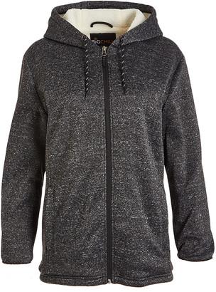 Big Chill Women's Non-Denim Casual Jackets Black - Black Sweater Fleece Sherpa-Lined Hoodie - Women