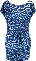 Vix Silvia printed silk-chiffon mini dress