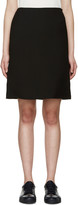Jil Sander Black A-Line Skirt