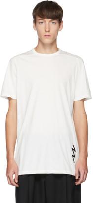 Rick Owens White Lighting Bolt T-Shirt