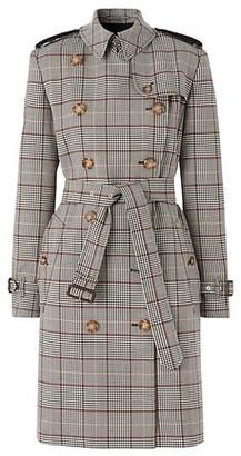 Burberry Kensington Prince Of Wales Check Wool Coat