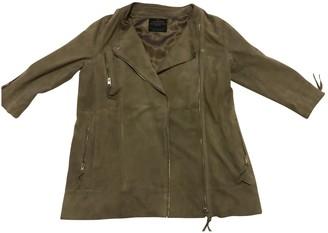AllSaints Beige Suede Jacket for Women