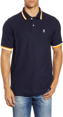 Psycho Bunny Chestnut Tipped Pique Polo
