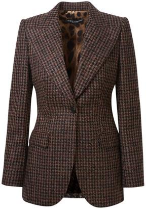 Dolce & Gabbana Blazer Quadri Marrone
