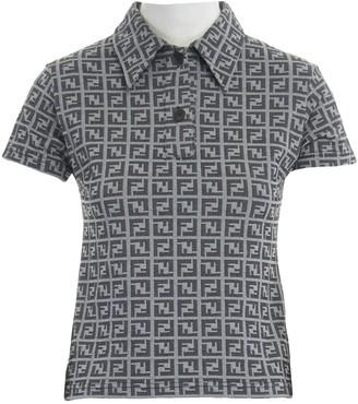 Fendi Grey Wool Top for Women
