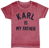 Little Eleven Paris Famkarl Karl Is My Father Burnout T-Shirt