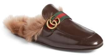 Gucci New Princetown Genuine Shearling Mule