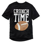 Classic Little Boys Active Graphic Tee-Black Crunch Time