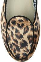 Charles Philip Shanghai Leopard-print satin slippers