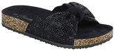 Forever Link Shoes Women's Sandals blk - Black Studded Bow Slide - Women
