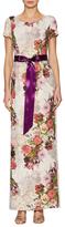 Adrianna Papell Jacquard Floral Print Maxi Dress