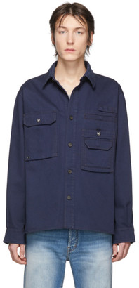 Acne Studios Navy Twill Back Panel Shirt