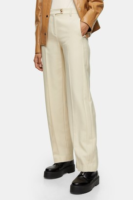 Topshop Womens **Ivory Menswear Style Trousers By Ivory