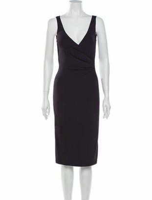 Celine Vintage Knee-Length Dress Purple