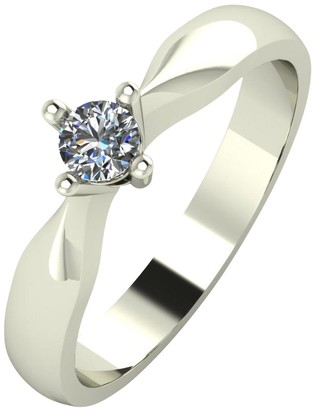 Love Diamond 9ct Gold 15 Point Diamond Solitaire Ring