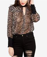 Rachel Roy Printed Back-Tie Choker Blouse, Created for Macy's