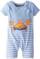 Jo-Jo JoJo Maman Bebe Crab Romper (Baby) - Blue/White Stripe-12-18 Months