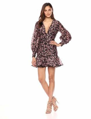Keepsake Women's ONE Love Puff Sleeve FIT & Flare Longsleeve Dress