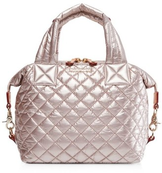 MZ Wallace Small Sutton Quilted Nylon Satchel