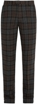 Saturdays NYC Panos slim-leg checked wool-blend trousers