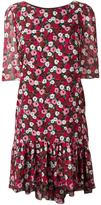 Saint Laurent floral print babydoll dress - women - Silk - 36