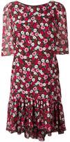 Saint Laurent floral print babydoll dress - women - Silk - 38