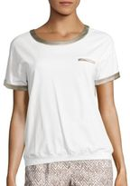 Peserico Charmeuse-Trimmed Tee