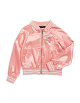 Almost Famous Girls 7-16 Girls Sequined Applique Varsity Jacket