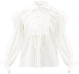 Horror Vacui Pernille Scalloped Cotton Top - White
