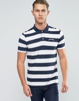 Jack and Jones Bold Striped Polo with Logo