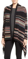 Foxcroft Women's Stripe Jacquard Cardigan