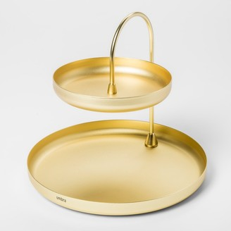Umbra 2 Tiered Poise Tray Brass