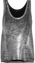 Ann Demeulemeester Metallic Linen-blend Tank - Silver