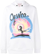 Palm Angels Jessica print hoodie - men - Cotton - XS