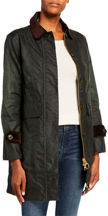 Barbour Icons Haydon Waxed Belt-Back Coat