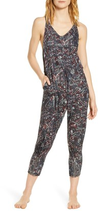 Free People High Tide Print Jumpsuit