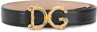 Dolce & Gabbana Baroque logo belt