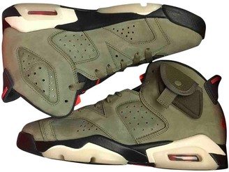 Nike X Travis Scott Air Jordan 6 Green Leather Trainers