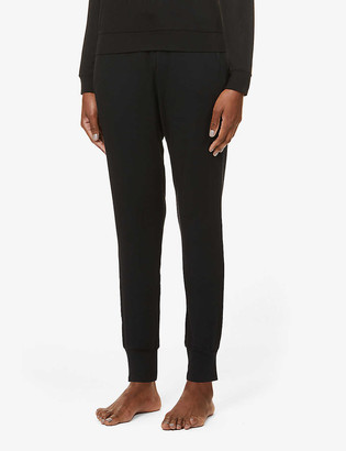 Stripe & Stare Tapered drawstring-waistband stretch-jersey trousers