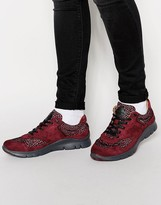 Paul Smith Jeans October Runner Trainers - Red