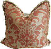 One Kings Lane Vintage Italian Persimmon/Gold Damask Pillow